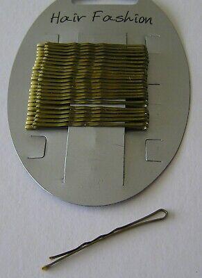 1 Scheda Nuova Del 24 Oro Capelli Biondi Grip Diapositive Bobby Piedini Hairgrips 47mm Lunga Uk-mostra Il Titolo Originale