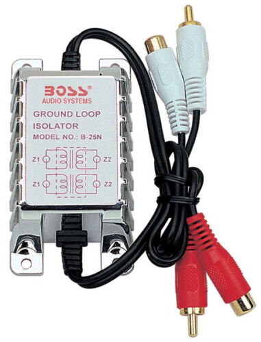 New Boss B25N RCA to RCA Ground Loop Isolator Noise Audio Filter Stereo Amp B25