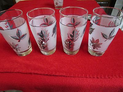 Set of Four Antique Vintage Retro Cups glasses for Drinks over 50 years old