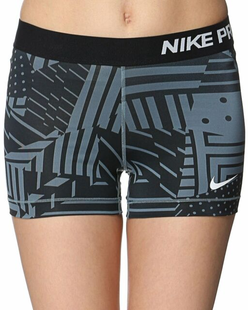 "BN  Nike Ladies Pro 3"" Graphite Patch Compression Short  - 589364  Size: M-12"