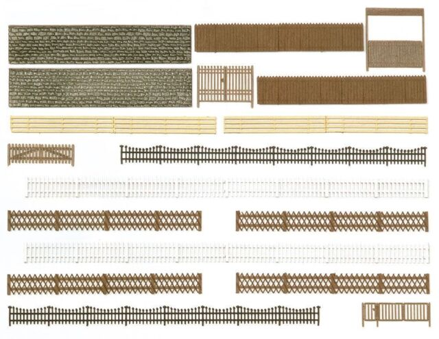 Busch H0 (6017): Fence, Wall and Gate