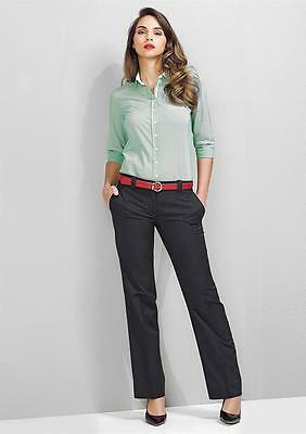 Biz Corporate Ladies Hipster Pant 10212   Cool Stretch Pinstripe, Office, Womens