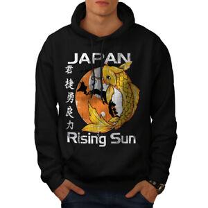 Wellcoda-Rising-Sun-Japan-Koi-Sweat-a-capuche-Carpe-Casual-Sweat-a-capuche