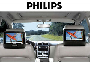 image is loading philips pd9012 9 034 dual lcd screen portable