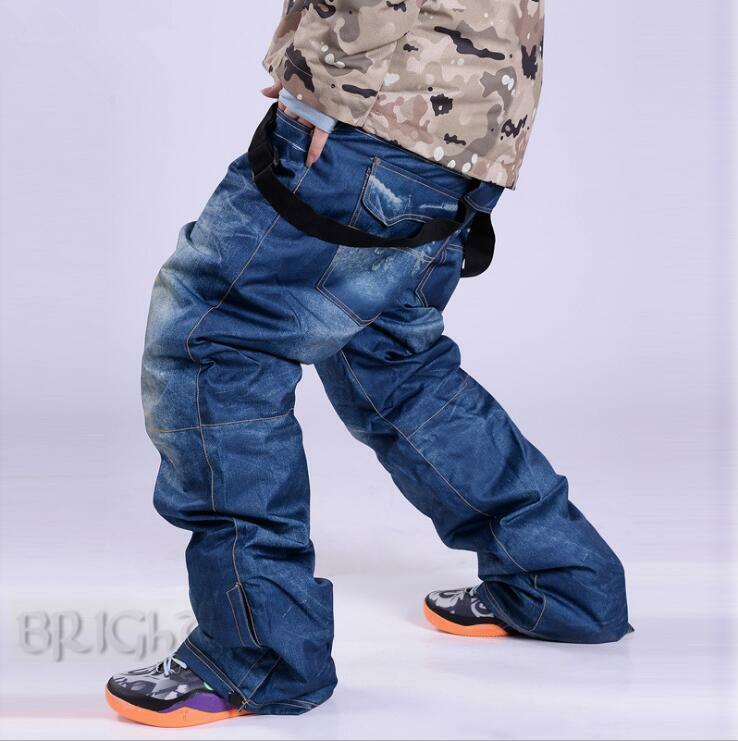 Winter Ski Pants Jeans Ski-pant Trousers  O lls Outdoor Jean Unisex Waterproof  quality assurance