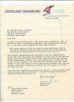 Gabe Paul Cleveland Indians New York Yankees President GM Signed Autograph TSL