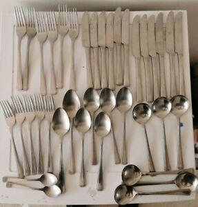 Vintage-38-pieces-Stainless-Steel-Cutlery-lot-BHS-South-Korea-Prova