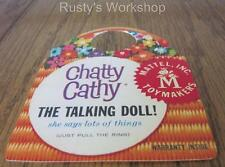 Made For 1960 Mattel CHATTY CATHY dolls, A WRIST hang TAG