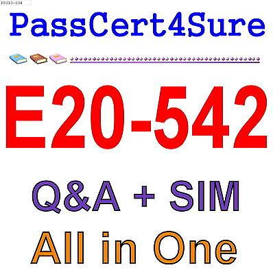 EMC Best Practice Material For E20-542 Exam Q/&A PDF+SIM