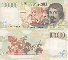 100.000 LIRE CARAVAGGIO 2° TIPO 27/02/1995, SPLENDIDO