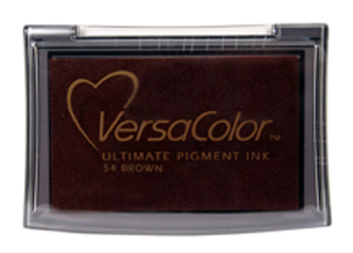 VersaColor - VC 54 Brown Kaffee Braun Pigment Stempelkissen Tsukineko ~6 x10 cm