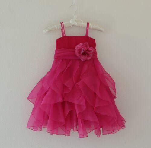 Ruffled Organza Flower Girl Dress Pageant Wedding Birthday Easter Christmas 151F