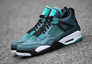 Nike Air Jordan 4 Retro 30th Teal/White-Black-Retro 705331-330 Basketball Shoes