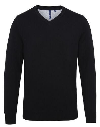 Smart Casual Jumper Asquith /& Fox Men/'s Cotton Blend V-Neck Sweater AQ042