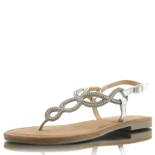 LAZAMANI Ladies Sandals Chain silver