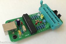 Through-Hole (Kit or Assembled) ZIF Socket USBASP 5V ISP Programmer for Arduino