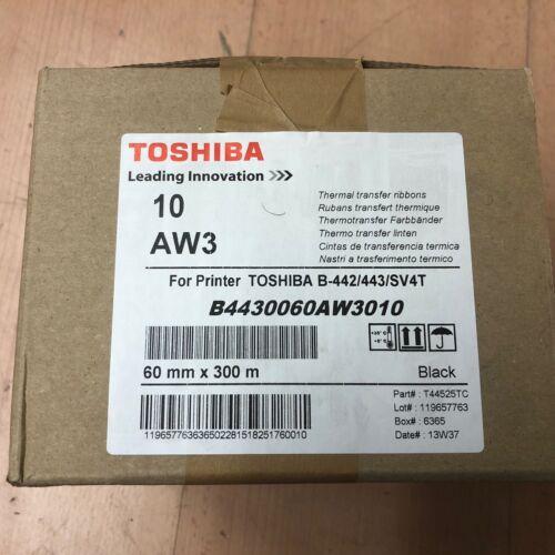 10 Stück 60mm x 300m Toshiba Farbbänder für TEC, Toshiba B-442, B-443, B-SV4T