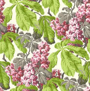 Rasch-Textil-Tapete-Cassata-256528-Flores-Verde-Rojo-Blanco-Papel-Pintado-No