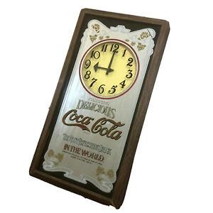 Vintage-Delicious-Coca-Cola-Mirror-Wall-Pub-Wall-Clock-The-Most-Refreshing-Drink