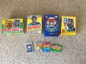 1989-Unopened-Pack-Lot-Upper-Deck-Fleer-Donruss-Bowman-Griffey-PSA-10-RC