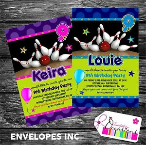 Personalised-Birthday-Invitations-Bowling-Party-x-5