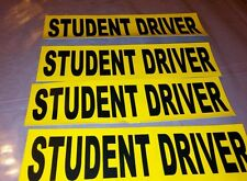 Student Driver Decal Safety Car sticker Sign set of 4