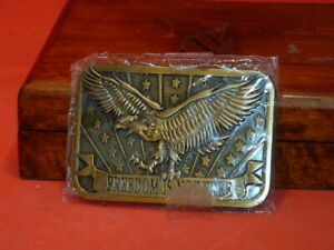 Pre-Owned-Freedom-Is-Not-Free-Belt-Buckle