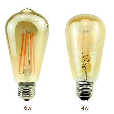 E12 E27 E14 Retro Edison LED Filament Bulb Candle Light Globe Lamp Energy Saving