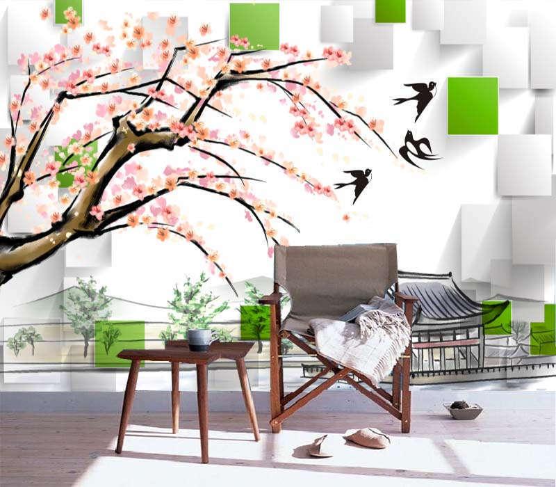 Oasis Importante Au Abstrait 3d Plein Mur Mural Photo Photo Photo