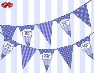 Brilliant-Blue-Happy-25th-Birthday-Vintage-Polka-Dots-Theme-Bunting-Banner-Party