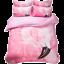 Gift Sweet Pink Flamingo Print Bedding Set Duvet Cover+2pcs Pillow Case US AU UK