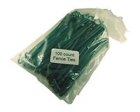 Green Pvc Coated Aluminum Chain Link Fence Ties 100 Count Pack 6 1/2 Inch Lon...