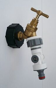 IBC-Tank-Kappe-2-034-S60-mit-Messing-Wasserhahn-amp-1-3cm-vollstaendig