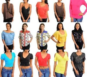 Abbigliamento Misto Nuovo all'ingrosso donna lotto M Camicie Leggings 25 Medio Pantaloni Top SF4ZOwS