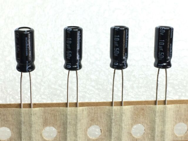 Set of 10 20/% Rad Nichicon 105°C Electrolytic Capacitor 4.7uF 50V 4.7 mfd 50V