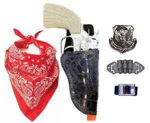 CAP GUN, Kids Marshal's Holster Set w/Die-Cast Pistol, Bandana, Ammo & Badge