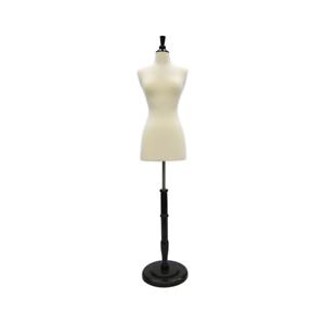 White Female Dress Form on Black Tripod stand Size 2-4