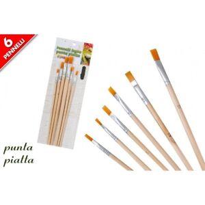 Set-6-Pennelli-Punta-Piatta-Professionali-Pittura-Acrilica-Dipingere-Artista-dfh