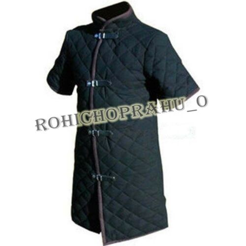 Details about  /Thick Black Color Viking Gambeson Medieval Padded Collar CHU/_0360