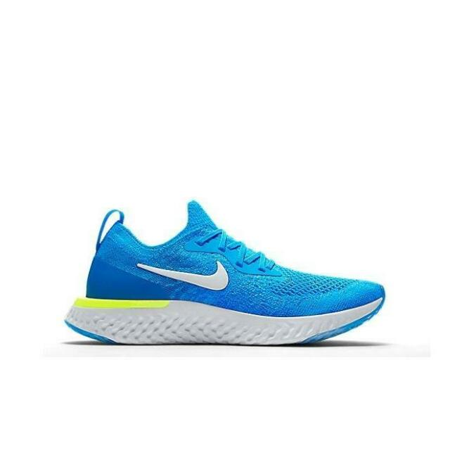 de4733cbda ... Blue Glow Volt White Running Shoes 5.5y GS. About this product. Juniors  NIKE EPIC REACT FLYKNIT GS Running Trainers 943311 401