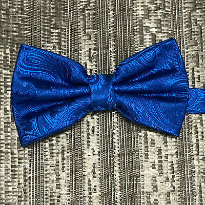 New Men/'s BUTTERFLY Design TEAL BLUE Pre-tied Bow tie Prom Wedding Formal Party