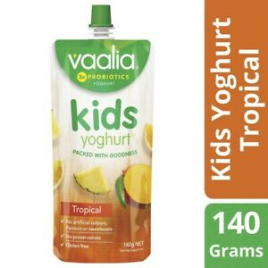 Vaalia Kids Tropical Yoghurt Pouch 140g