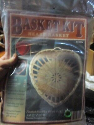 "Basketry & Chair Caning Guides Latest Fashion Temperate Nip Basket Kit Made In Usa Heart Basket 9""h X 8 1/2"" Wx 3 1/2""d Jadvick Ent"