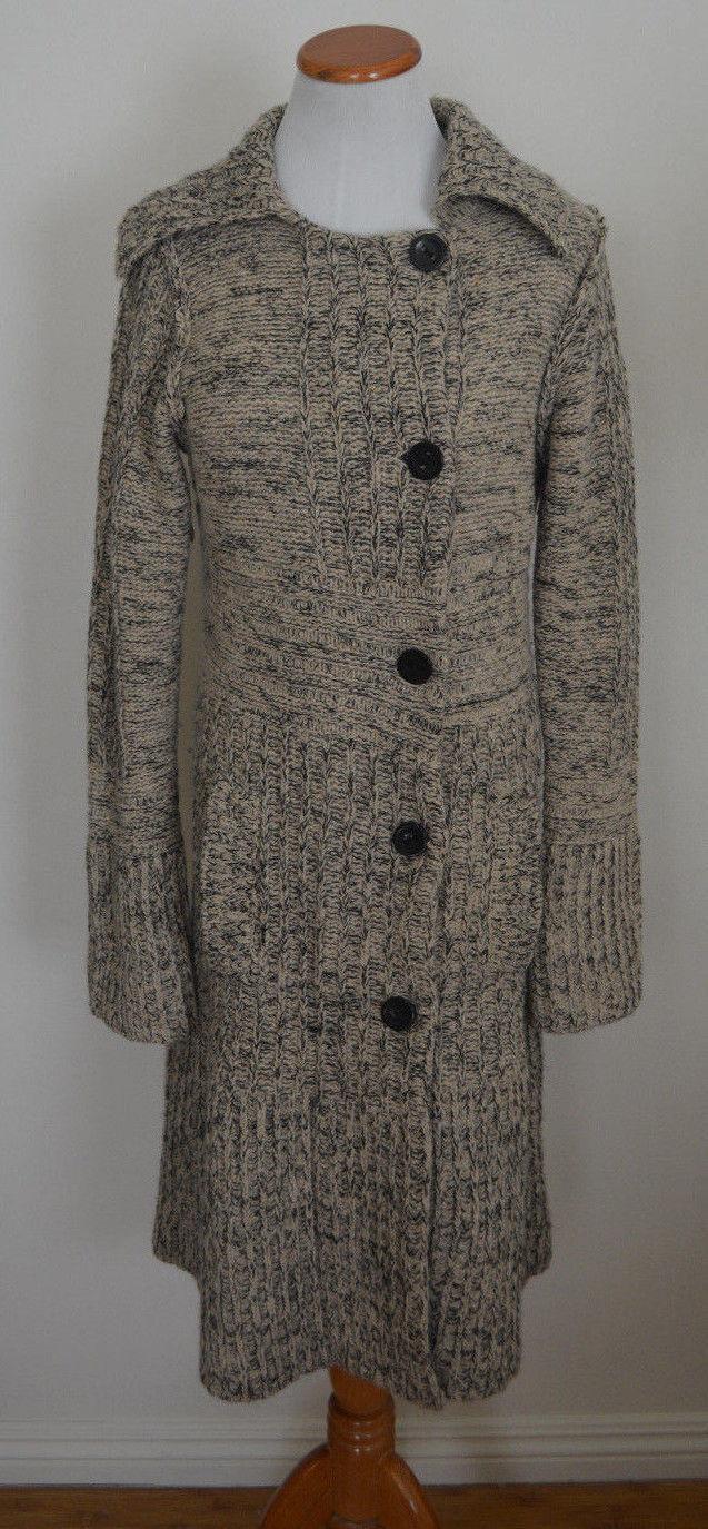 Very Rare Anthropologie Guinevere Wool Angora Sweater Coat S