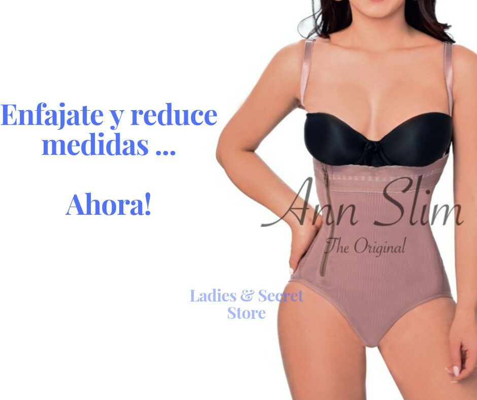 Faja reductora y moldeadora Colombiana modelo Panty strapless thin straps ENFAJA
