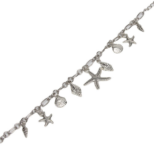 Silver Color Starfish Charm Anklet Bracelet Sandal Foot Chain Beach Jewelry LH