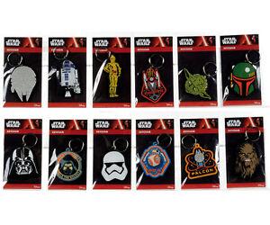 Disney-Star-Wars-R2D2-Yoda-Darth-Vader-C3PO-Stormtrooper-BB-8-keychain-MINT-bag
