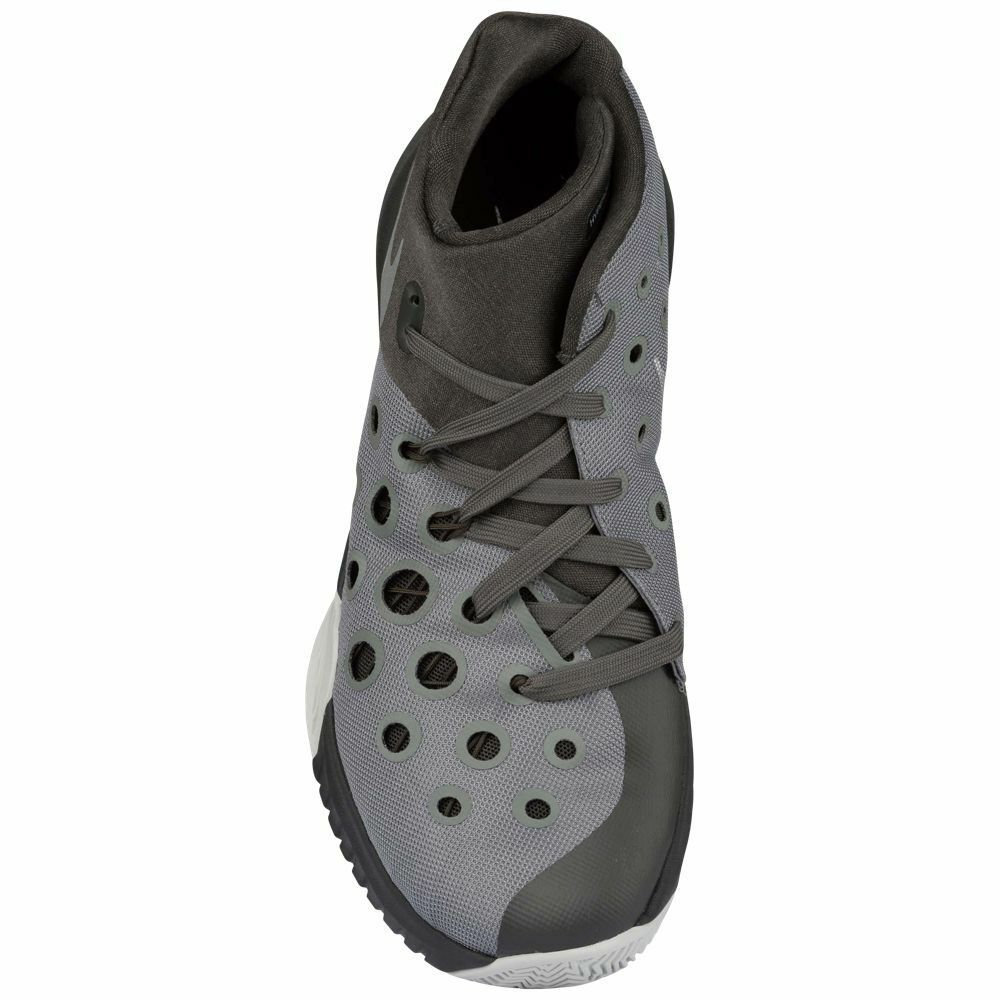 outlet store 2a9f8 3bad7 ... Nike Zoom Hyperquickness 2015 Men s Basketball Shoes Black Grey Silver  Black Grey  ...