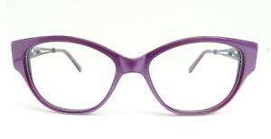 Judith Leiber Designer Reading Glasses JL3011-07 in Amethyst Purple Crystal 52mm