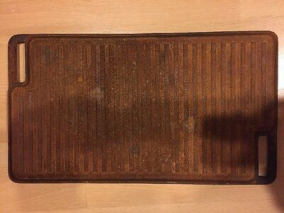 Cast Iron Griddle Fry Surface 18x10 Camping, As Is